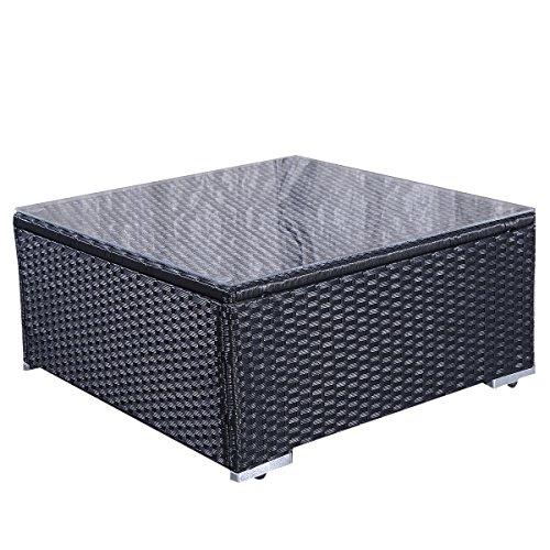 15tlg.Rattan Set Gartenmöbel Lounge Polyrattan Sitzgruppe Rattanmöbel Garnitur Garten -