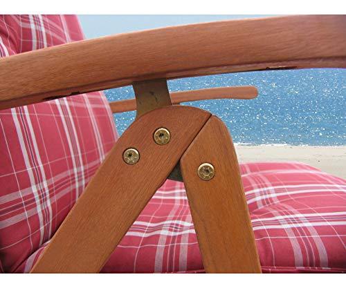 Gartenmöbel 17tlg mit 200cm Tisch Terrassenmöbel Santos Rubinrot - 4