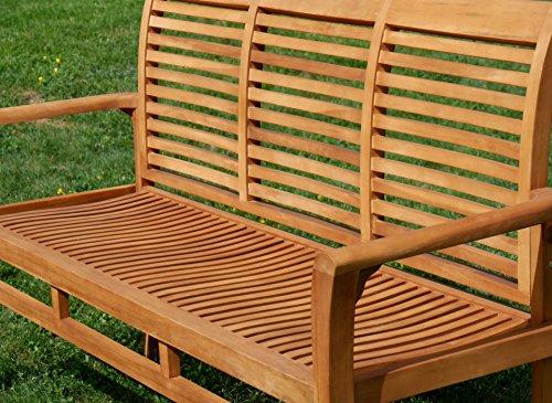Edle TEAK XXL Gartengarnitur Gartenset Sitzgruppe Gartenmöbel TISCH + 1 Bank + 4 Sessel 'ALPEN' Holz geölt von AS-S - 7