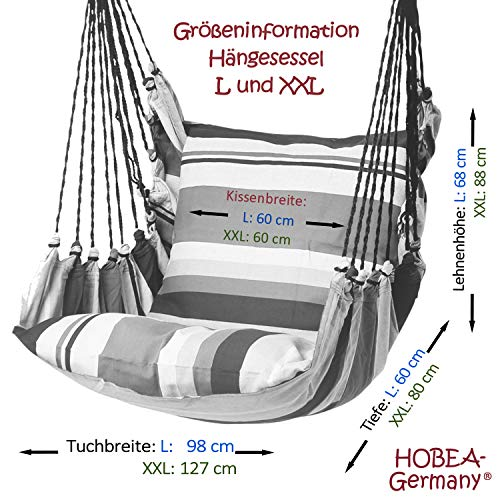 Hängesessel in unterschiedlichen Farben von HOBEA-Germany, Größe Hängesessel:L (bis 120kg belastbar);Farben Hängesessel:Toskana - 6