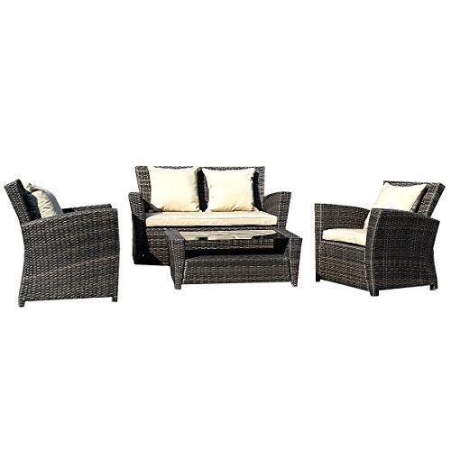 11tlg.Gartenmöbel Rattan Lounge Set Polyrattan Sitzgruppe Rattanmöbel Garnitur Garten
