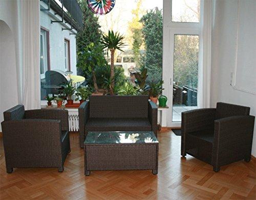 13tlg. Deluxe Lounge Set Gruppe Garnitur Gartenmöbel Loungemöbel Polyrattan Sitzgruppe – handgeflochten – braun-mix von XINRO® - 7
