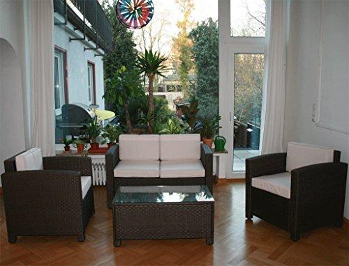 13tlg. Deluxe Lounge Set Gruppe Garnitur Gartenmöbel Loungemöbel Polyrattan Sitzgruppe – handgeflochten – braun-mix von XINRO® - 8