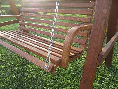 Design Bank aus Holz Lärche für Hollywoodschaukel 2-Sitzer KUREDO (ohne GESTELL!!!) von AS-S - 6