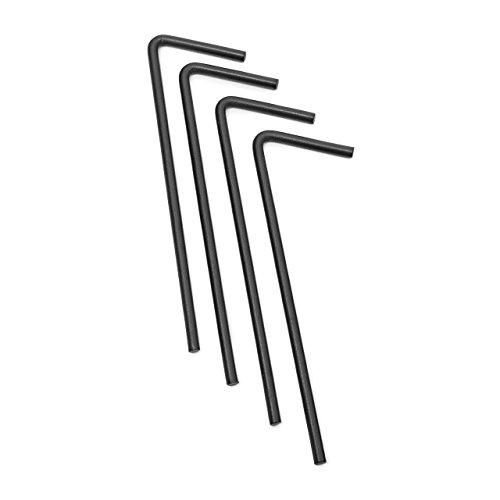 Relaxdays Rosenbogen mit Spitze HBT 242 x 138 x 35,5 cm Torbogen aus massivem Metall als Rankhilfe für Kletterrosen und Clematis Rosenspalier mit Pike und 4 Erdnägeln als stabiles Rankgitter, schwarz - 7