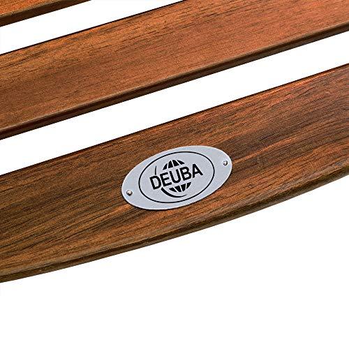 Deuba Schwungliege | FSC®-zertifiziertes Akazienholz | Ergonomisch | Vormontierte Latten | Wippfunktion | Gartenliege Sonnenliege Relaxliege Saunaliege - 4